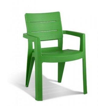 Zahradní plastové křeslo IBIZA zelená R06718