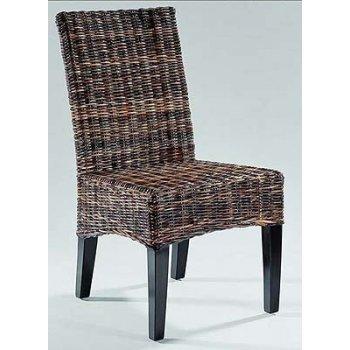 Ratanová židle FREDY- černý ratan HI08600