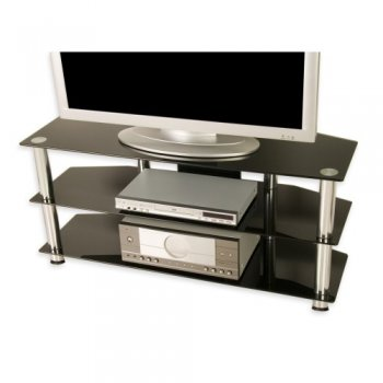 Televizní skleněný stolek černý M01337