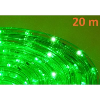 LED světelný kabel 20 m - zelená, 480 diod D00552