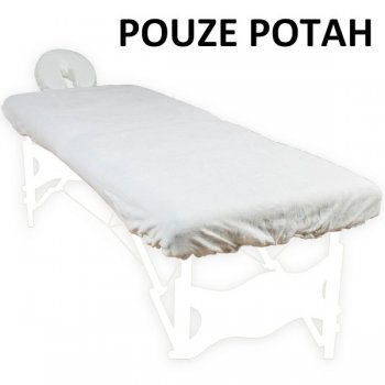 Povlak na masážní lehátko a opěrku hlavy bílý 100% bavlna M01296