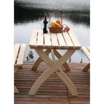 Zahradní dřevěný stůl STRONG přírodní FSC R02722