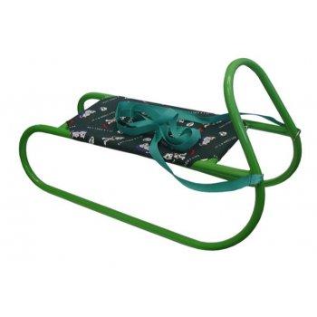 Sáně kovové dětské - zelené AC27999