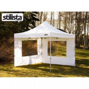 Sada dvou bočních stěn pro zahradní stany STILISTA, bílá, 3 x 3 m M01633