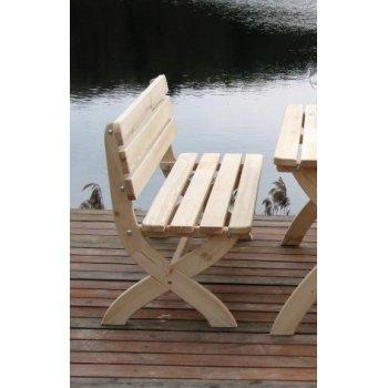 Zahradní dřevěná lavice STRONG přírodní FSC R02724