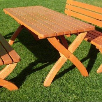 Zahradní dřevěný stůl STRONG masiv FSC R02726
