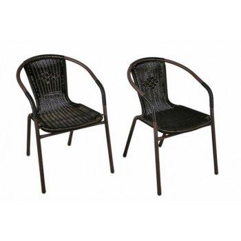 Sada dvou kusů polyratanových zahradních židlí Garth