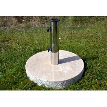 Stojan na slunečník z mramoru a ušlechtilé oceli, kulatý, 20 kg D02161