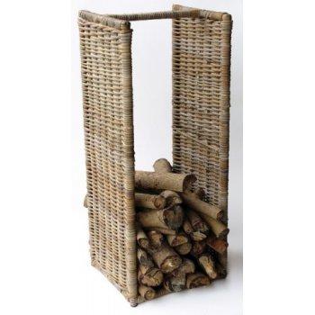 ratanový stojan na dřevo - vysoký HI08590