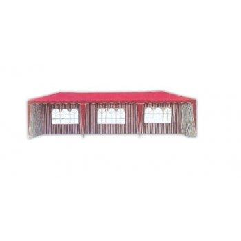 Zahradní stan altán 3901-PL 3x9 m červený vč. bočnic R06804