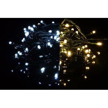 Vánoční světelný řetěz 100 LED - 9 blikajících funkcí - 9,9 m D39236
