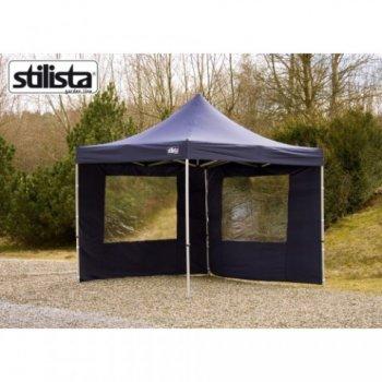 Sada 2 bočních stěn pro zahradní altán STILISTA 3 x 3 m - modrá M01545