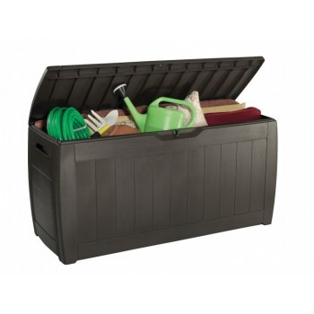 Plastový zahradní box HOLLYWOOD hnědý - 270L R30420