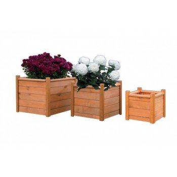 Dřevěný dekorativní květináč 30 x 30 cm R06939