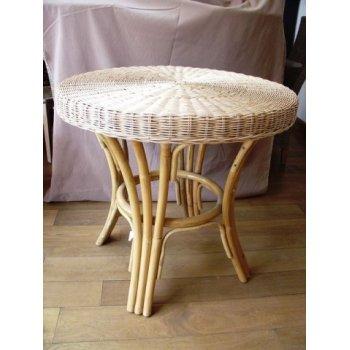 EXOTICA TP ratanový stůl průměr 74 cm - white pulut HI08540