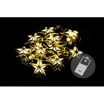 Vánoční LED osvětlení - hvězdy - teple bílé 10 LED D39404