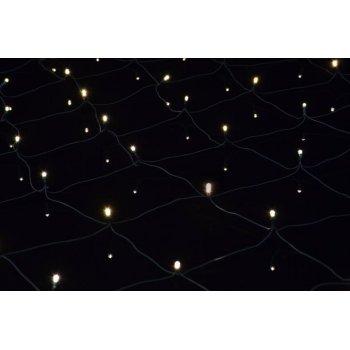 Vánoční osvětlení - LED světelná síť 2 x 2 m - teple bílá 160 diod